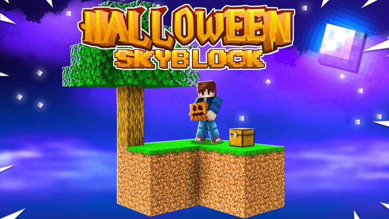 Halloween Skyblock on the Minecraft Marketplace by Fall Studios