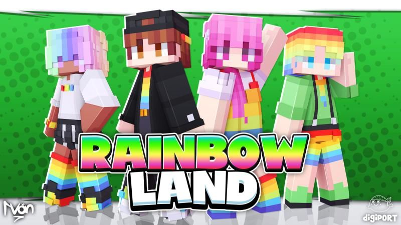 Rainbow Land on the Minecraft Marketplace by DigiPort