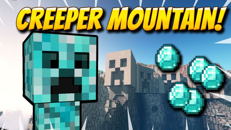 Creeper Mountain on the Minecraft Marketplace by VoxelBlocks