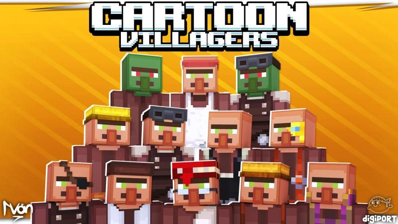 Cartoon Villagers on the Minecraft Marketplace by DigiPort