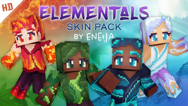 Elementals HD Skin Pack on the Minecraft Marketplace by Eneija
