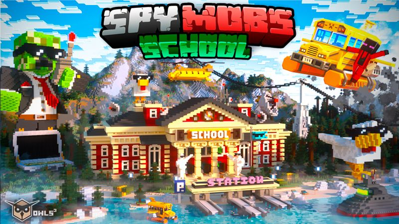 Spy Mobs School on the Minecraft Marketplace by Owls Cubed