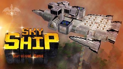 Sky Ship Survival Base on the Minecraft Marketplace by Dragnoz