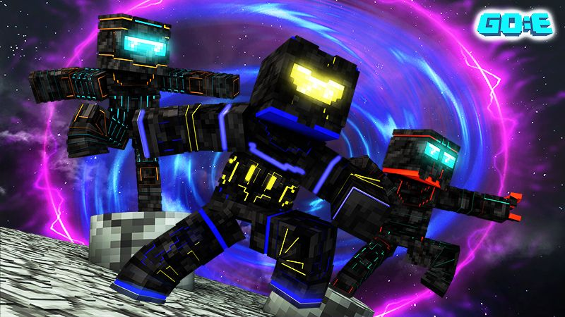 Neon Robots on the Minecraft Marketplace by GoE-Craft