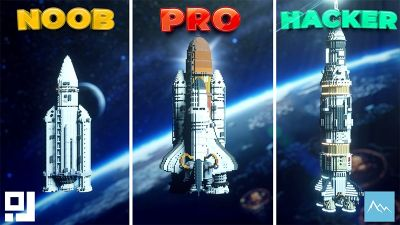 Noob Pro Hacker Rocket Edition on the Minecraft Marketplace by inPixel