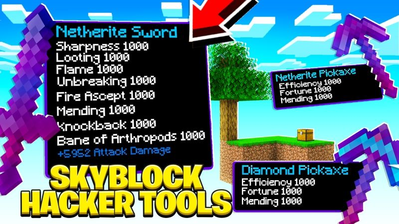 Skyblock Hacker Tools on the Minecraft Marketplace by Fall Studios