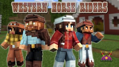 Western Horse Riders on the Minecraft Marketplace by Cleverlike