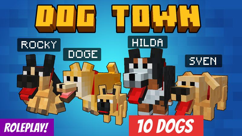 Dog Town on the Minecraft Marketplace by VoxelBlocks