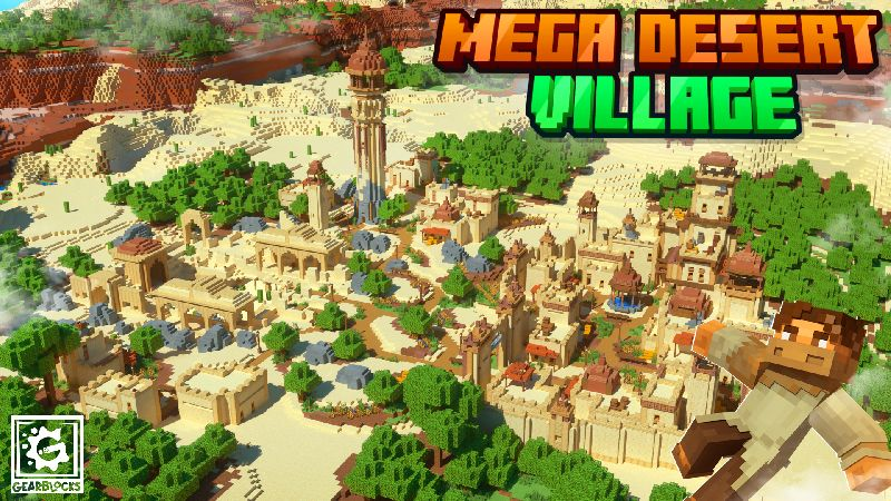 Mega Desert Village on the Minecraft Marketplace by Gearblocks