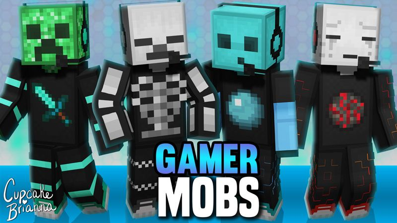Gamer Mobs HD Skin Pack on the Minecraft Marketplace by CupcakeBrianna