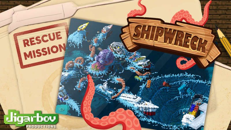 Rescue Mission Shipwreck on the Minecraft Marketplace by Jigarbov Productions