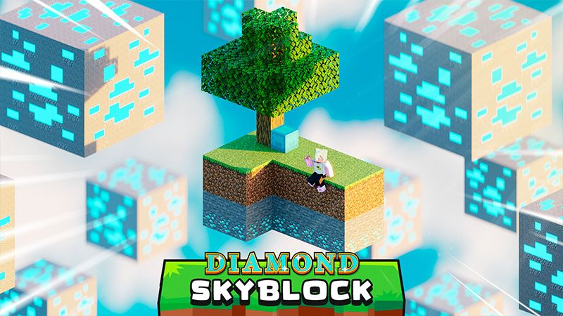 Diamond Skyblock on the Minecraft Marketplace by Odyssey Builds