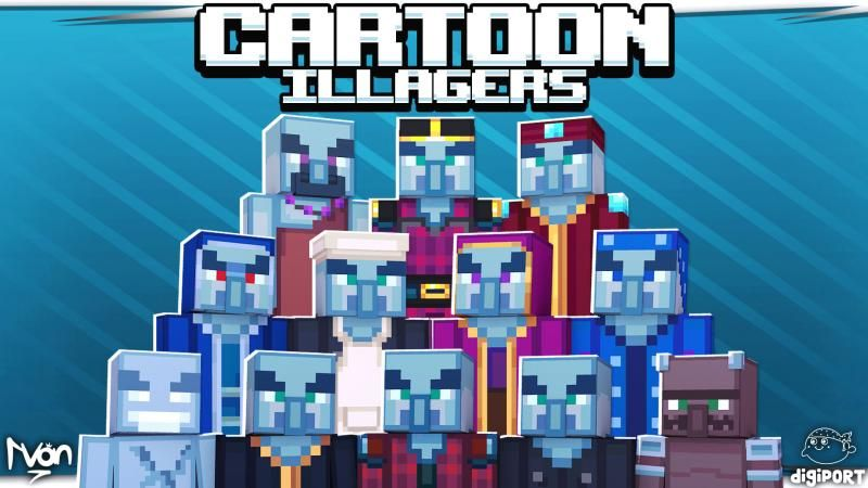 Cartoon Illagers on the Minecraft Marketplace by DigiPort