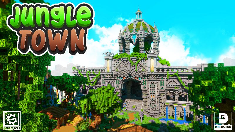 Jungle Town on the Minecraft Marketplace by Gearblocks