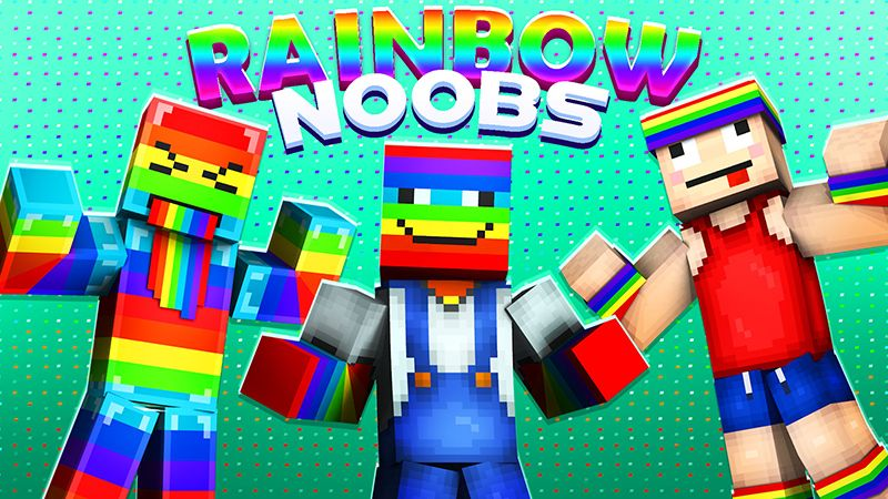 Rainbow Noobs on the Minecraft Marketplace by The Lucky Petals