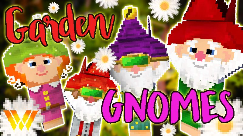 Garden Gnomes on the Minecraft Marketplace by Wandering Wizards