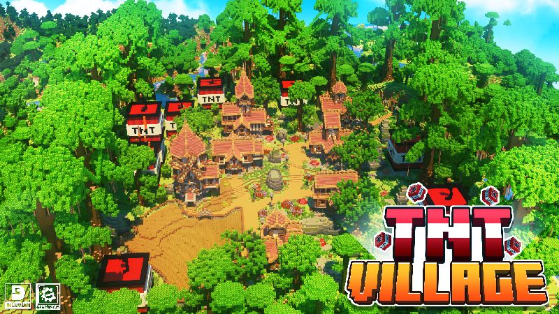 TNT Village on the Minecraft Marketplace by Gearblocks