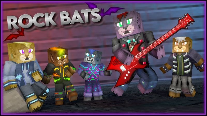 Rock Bats HD Skin Pack on the Minecraft Marketplace by HearttCore Creations