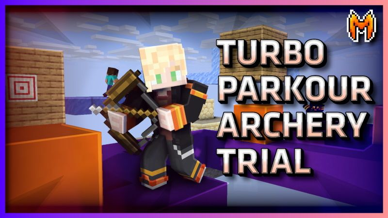 Turbo Parkour Archery Trial on the Minecraft Marketplace by Metallurgy Blockworks
