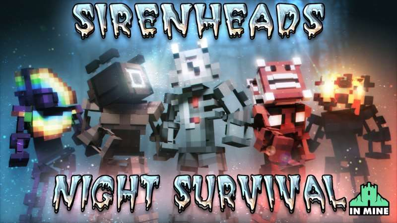 Sirenhead Night Survival on the Minecraft Marketplace by In Mine