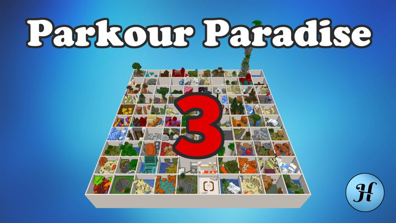 Parkour Paradise 3 on the Minecraft Marketplace by Hielke Maps
