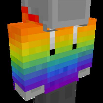 Rainbow sweatshirt on the Minecraft Marketplace by UnderBlocks Studios