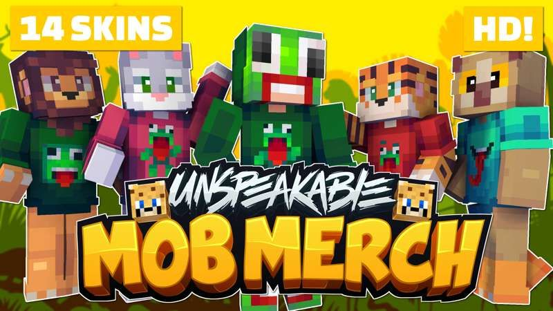 Unspeakable Mob Merch on the Minecraft Marketplace by Meatball Inc