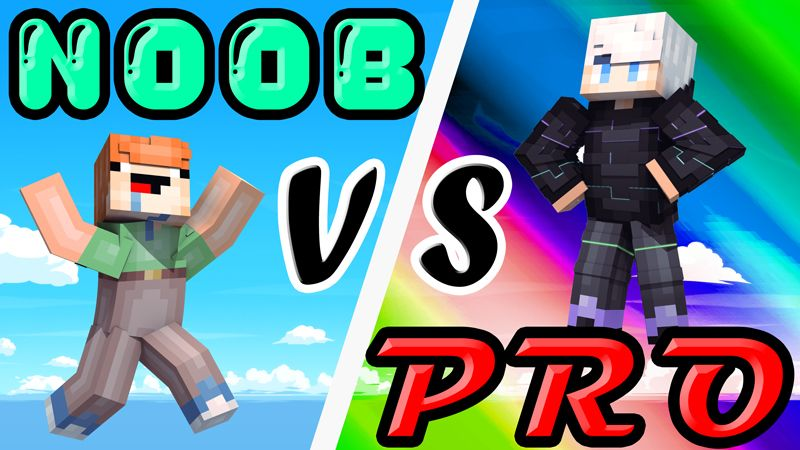 Noob vs Pro on the Minecraft Marketplace by Pixels & Blocks