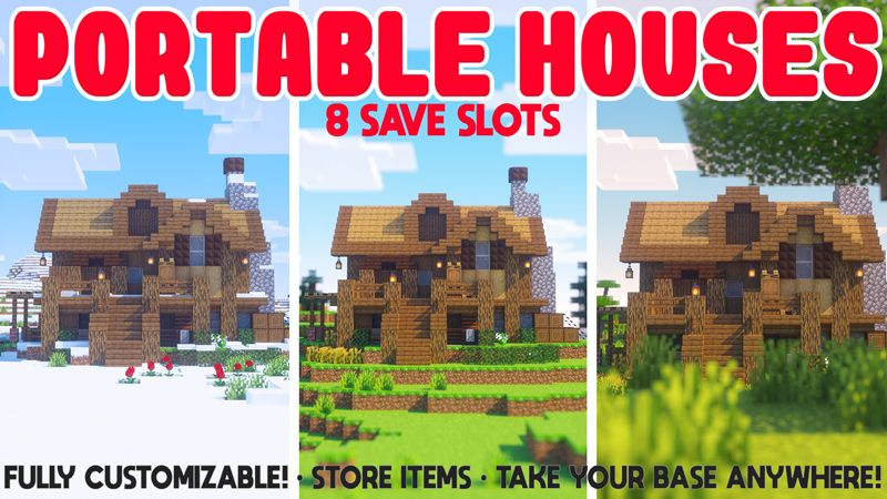 PORTABLE HOUSES on the Minecraft Marketplace by Chunklabs