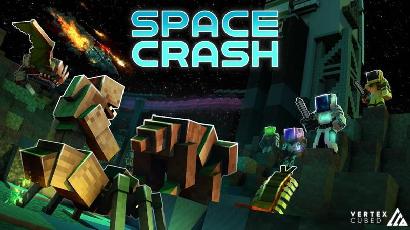 Space Crash Survival on the Minecraft Marketplace by Vertexcubed