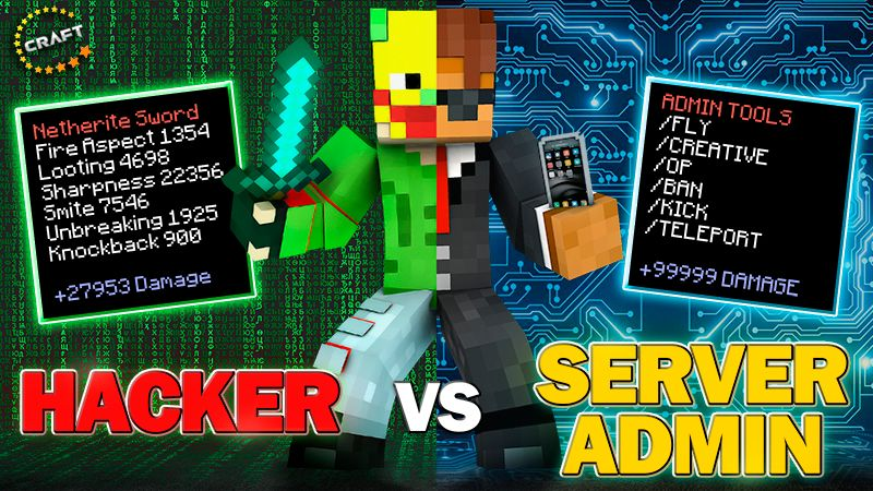 Hacker vs Server Admin on the Minecraft Marketplace by The Craft Stars