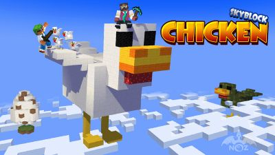 Skyblock Chicken Rampage on the Minecraft Marketplace by Dragnoz