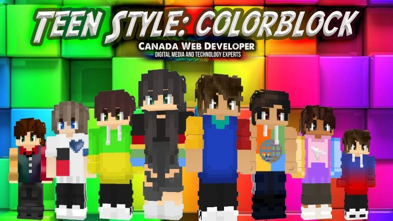 Teen Style Colorblock on the Minecraft Marketplace by CanadaWebDeveloper